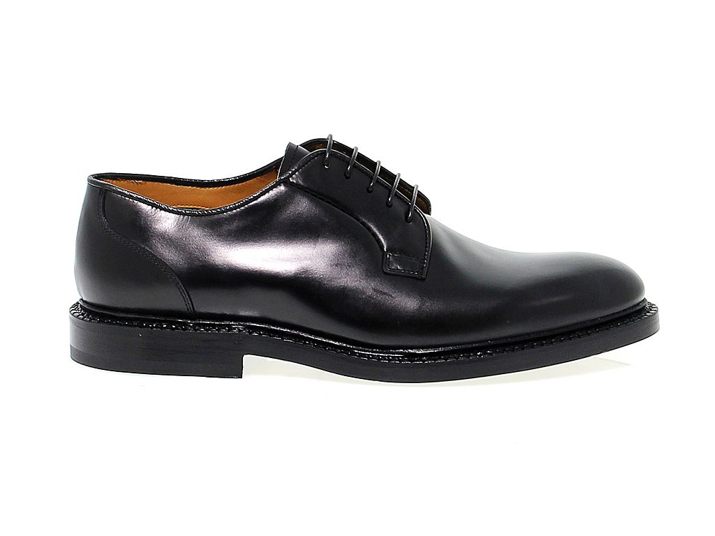 FABI MEN'S FABIFU7745 BLACK LEATHER LACE-UP SHOES