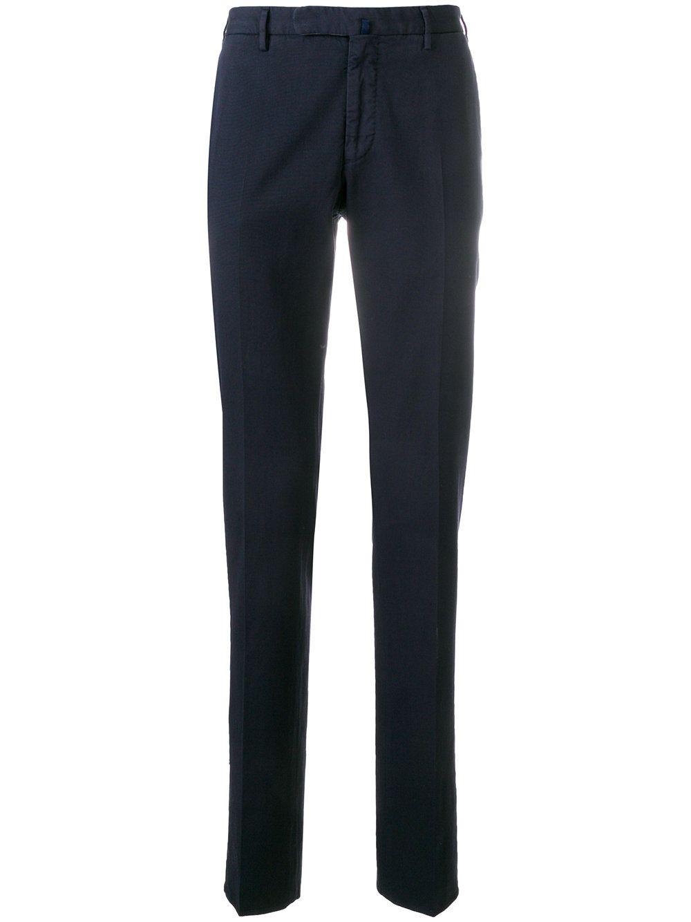 INCOTEX MEN'S 1AGW3090270822 BLUE COTTON PANTS