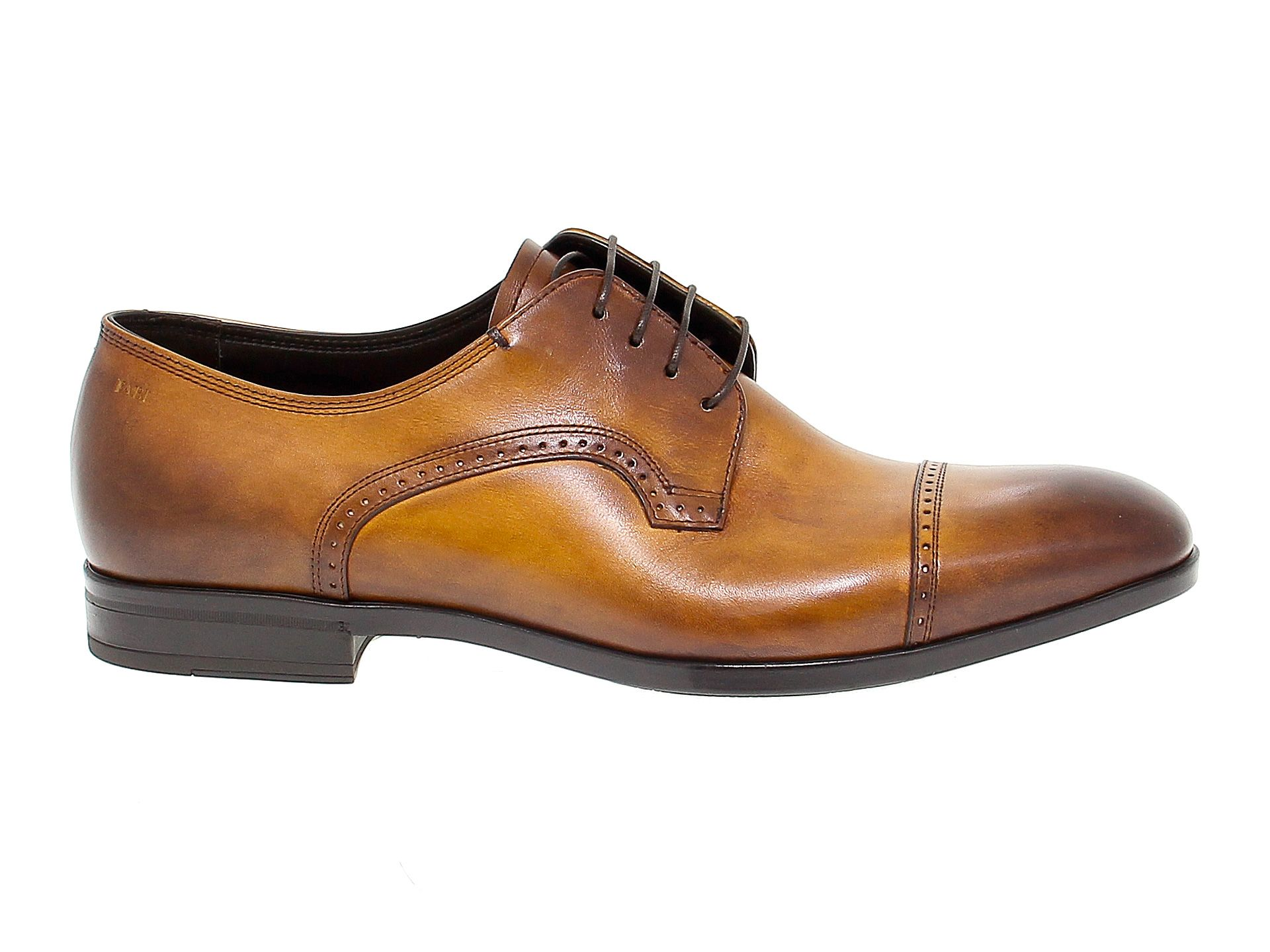 FABI MEN'S FABIFU8770C BROWN LEATHER LACE-UP SHOES