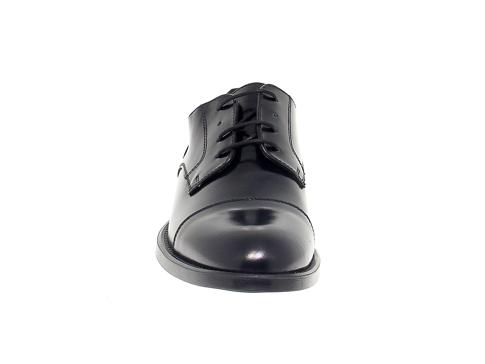 ANTICA CUOIERIA MEN'S ANTIC20622 BLACK LEATHER LACE-UP SHOES