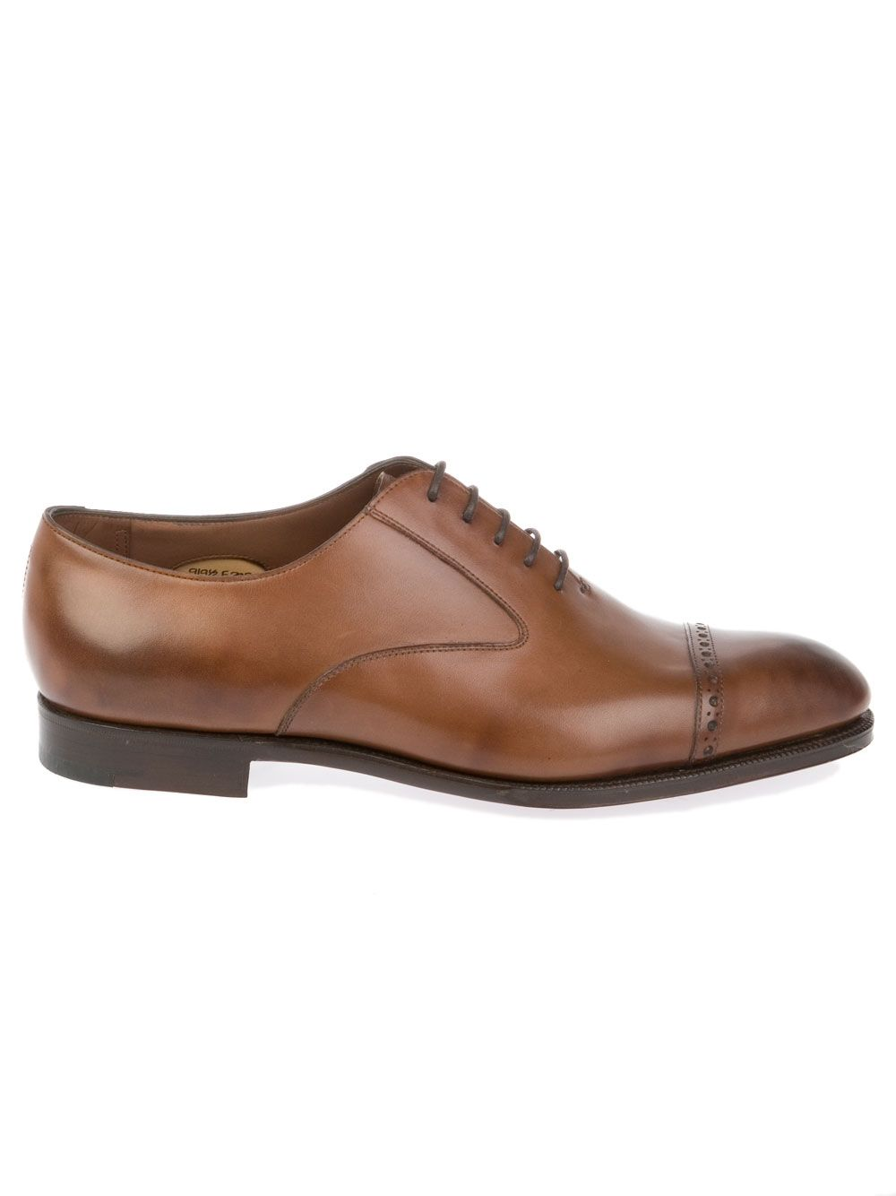 EDWARD GREEN MEN'S HYTHEBURNTPINEANTIQUE BROWN LEATHER LACE-UP SHOES