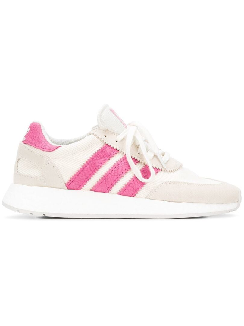 ADIDAS WOMEN'S D96618 WHITE LEATHER SNEAKERS
