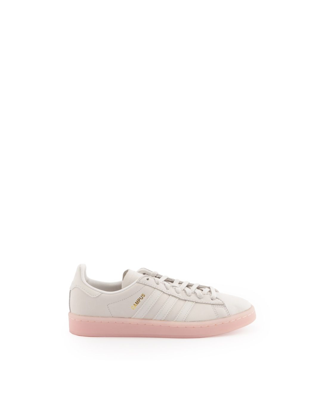 ADIDAS WOMEN'S BY9839 WHITE LEATHER SNEAKERS
