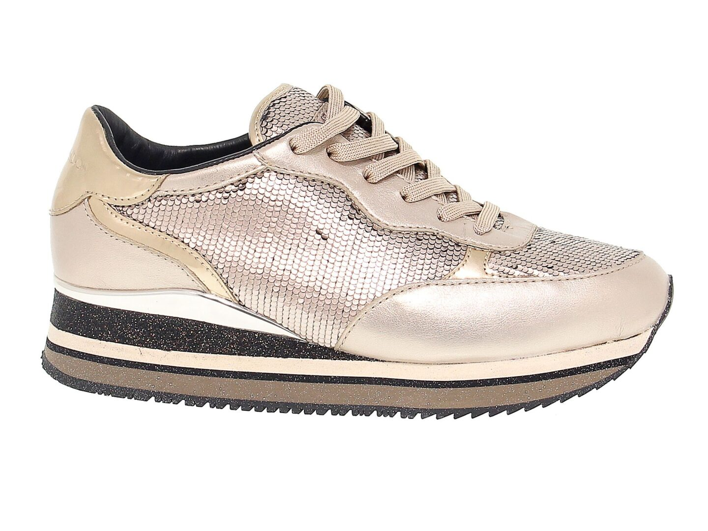 CRIME LONDON WOMEN'S 25520 GOLD POLYESTER SNEAKERS