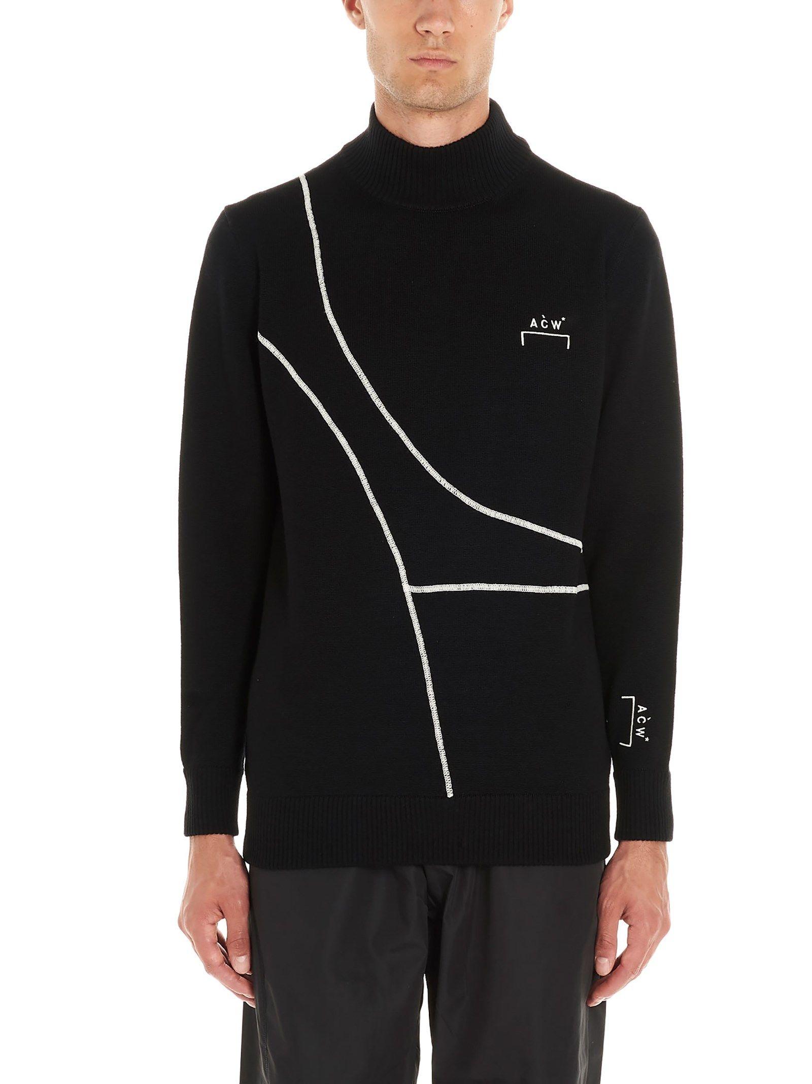 A-COLD-WALL* MEN'S ACWAW19KC01BLACK BLACK WOOL Sweaters