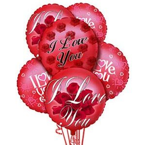 I Love You Balloon Bouquet #6102X