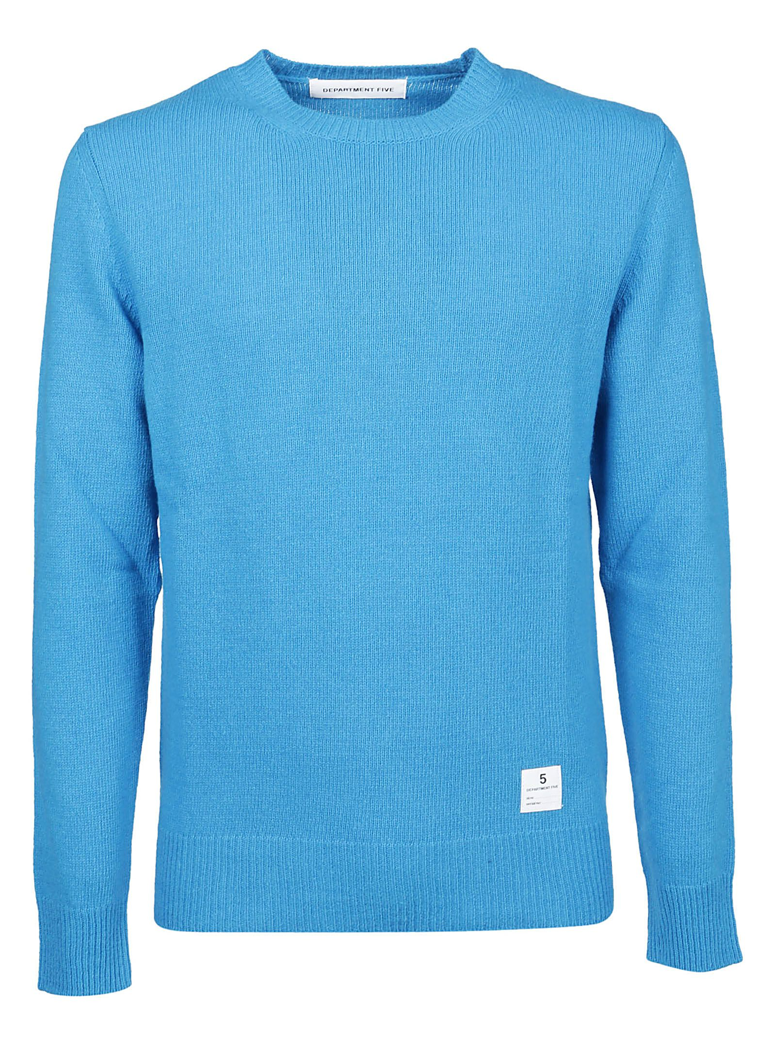 DEPARTMENT FIVE MEN'S U19M21FF190VE112 LIGHT BLUE WOOL SWEATER