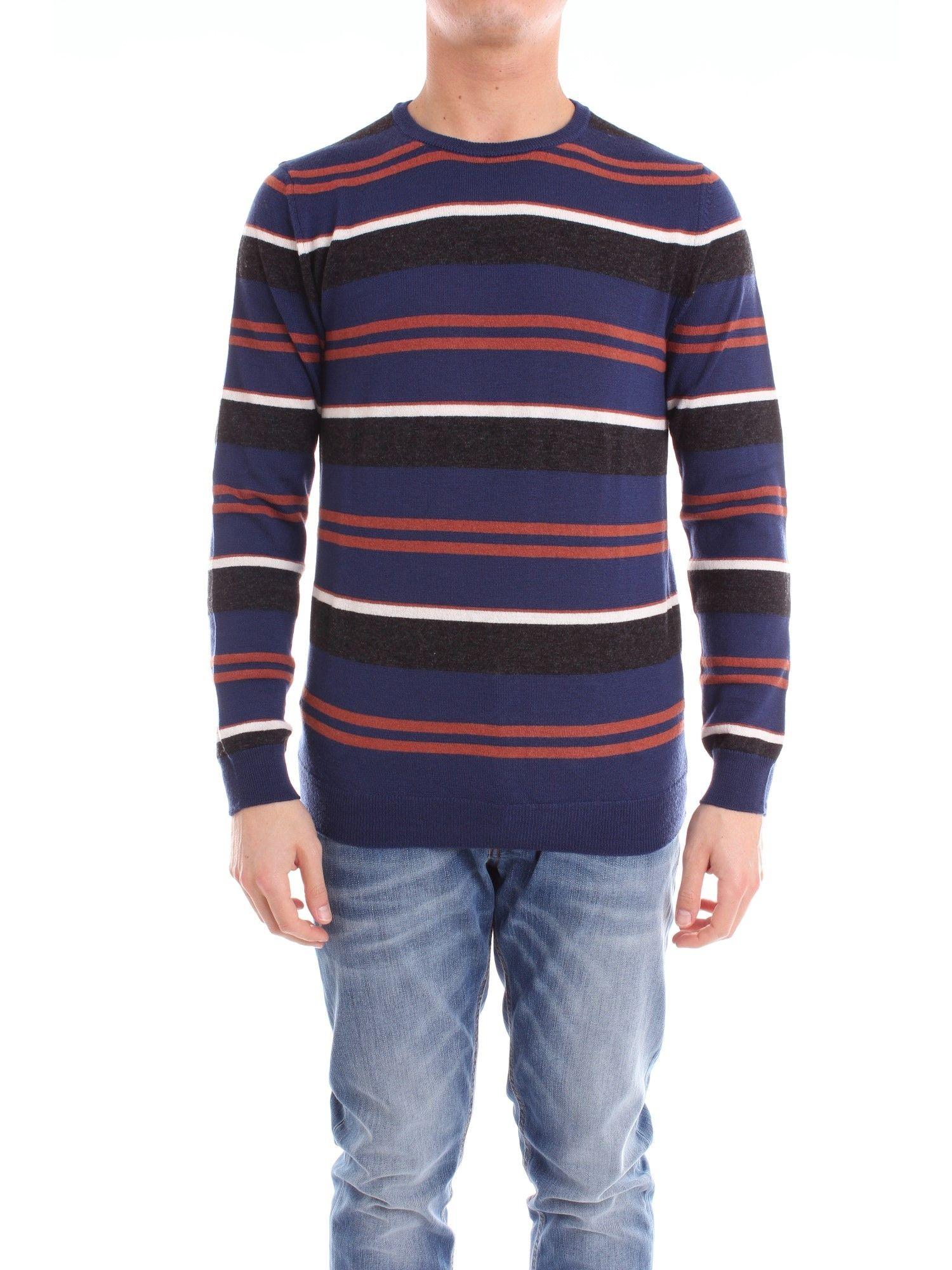 +39 MASQ MEN'S MA0801941200BLUE BLUE WOOL Sweaters