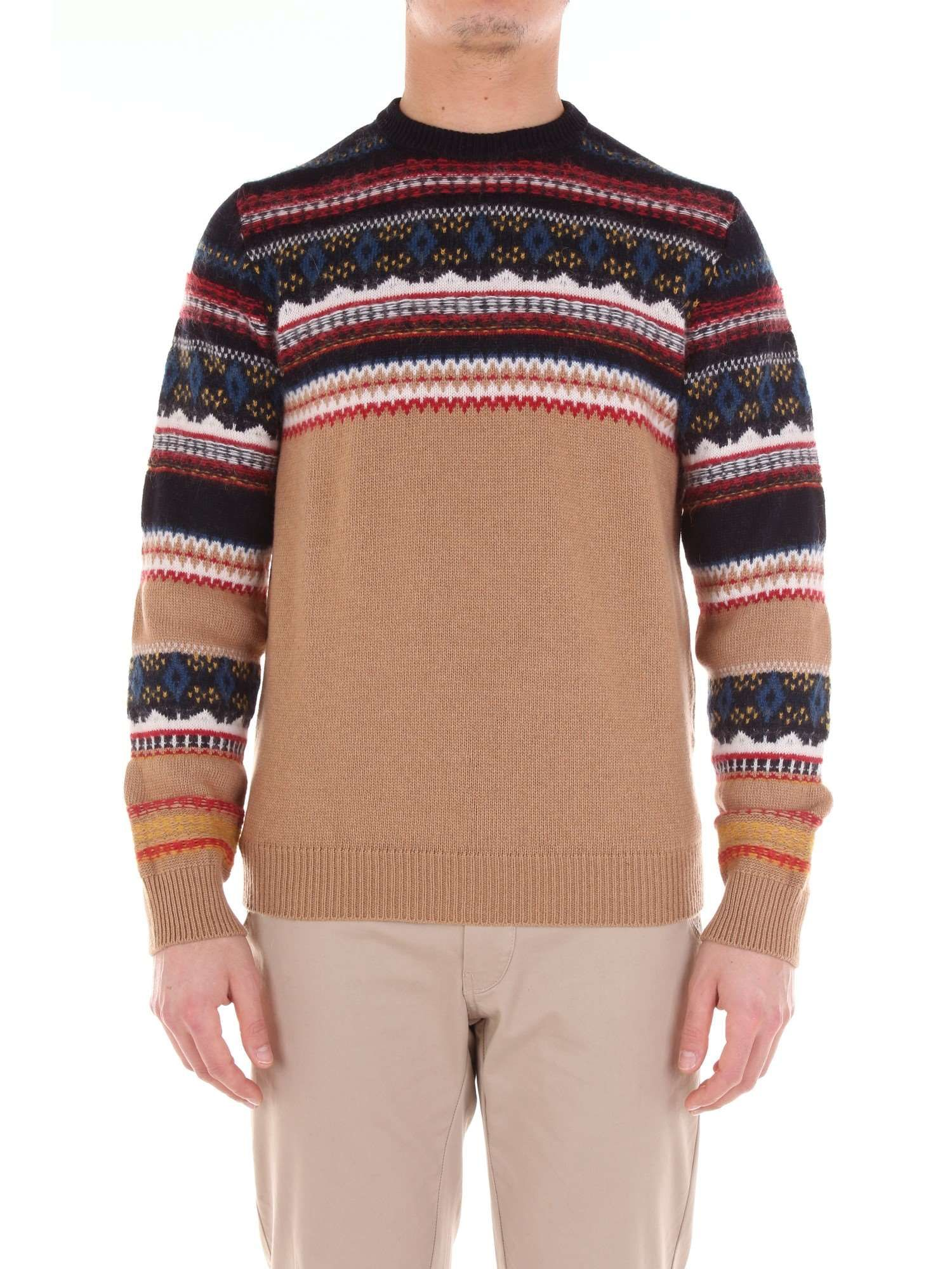 +39 MASQ MEN'S MA080220700BROWN BROWN WOOL Sweaters